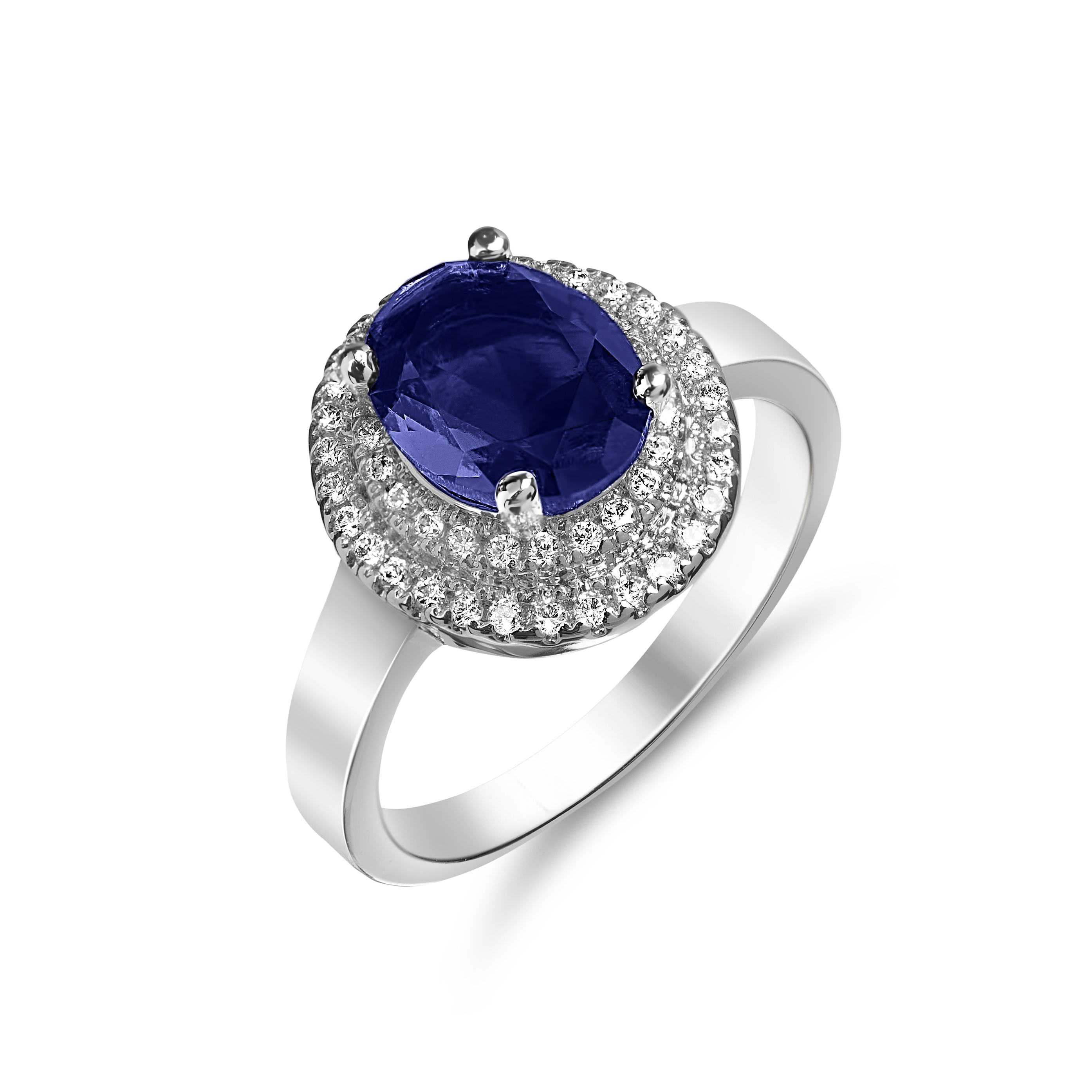 saffire pid gemstone gold ring diamond engagement and blue sapphire rings white